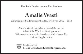 Zur Gedenkseite von Amalie Wastl