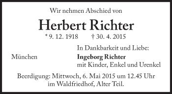 Zur Gedenkseite von Herbert Richter