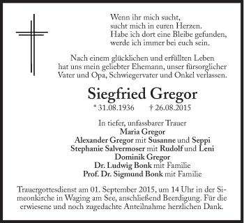 Zur Gedenkseite von Siegfried Gregor