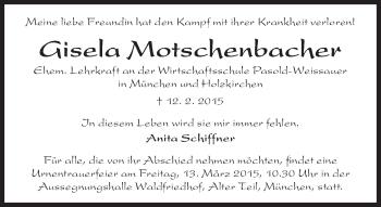 Zur Gedenkseite von Gisela Motschenbacher