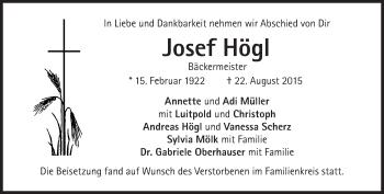 Zur Gedenkseite von Josef Högl