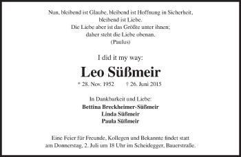 Zur Gedenkseite von Leo Süßmeir
