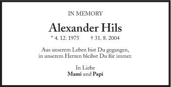 Zur Gedenkseite von Alexander Hils