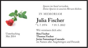Zur Gedenkseite von Julia Fischer