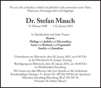 Zur Gedenkseite von Stefan Mauch