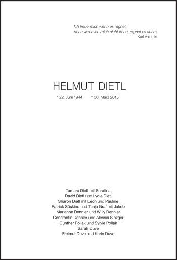 Zur Gedenkseite von Helmut Dietl