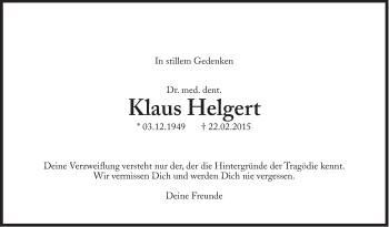 Zur Gedenkseite von Klaus Helgert