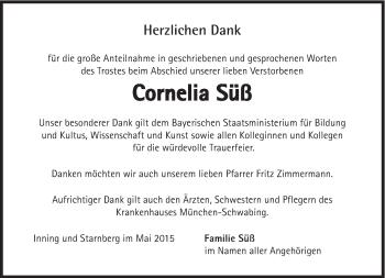 Zur Gedenkseite von Cornelia Süß