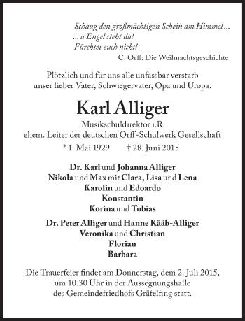 Zur Gedenkseite von Karl Alliger
