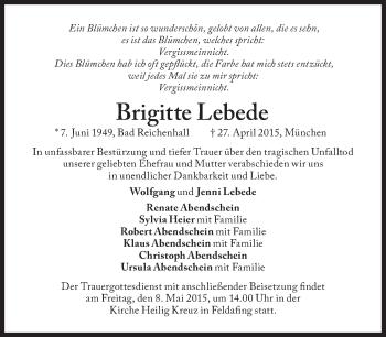 Zur Gedenkseite von Brigitte Lebede