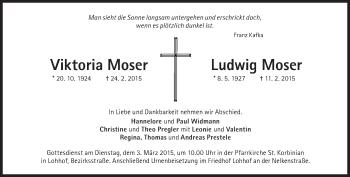 Zur Gedenkseite von Viktoria und Ludwig Moser