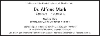Zur Gedenkseite von Alfons Mark