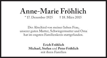 Zur Gedenkseite von Anne-Marie Fröhlich