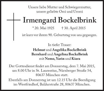 Zur Gedenkseite von Irmengard Bockelbrink