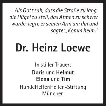 Zur Gedenkseite von Heinz Loewe