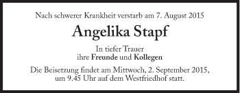 Zur Gedenkseite von Angelika Stapf