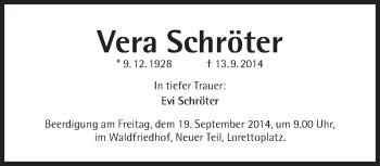 Zur Gedenkseite von Vera Schröter