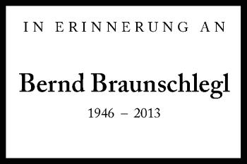 Zur Gedenkseite von Bernd Braunschlegl