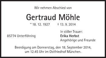 Zur Gedenkseite von Gertraud Möhle