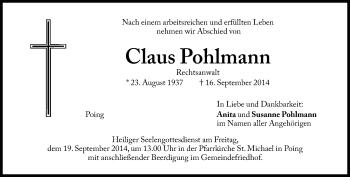 Zur Gedenkseite von Claus Pohlmann