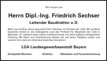 Zur Gedenkseite von Friedrich Sechser