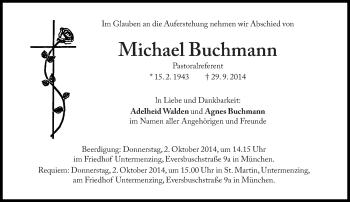 Zur Gedenkseite von Michael Buchmann