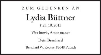 Zur Gedenkseite von Lydia Büttner