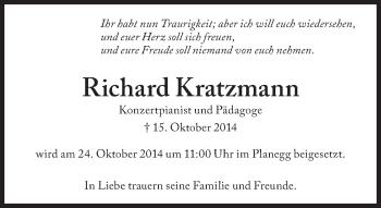 Zur Gedenkseite von Richard Kratzmann