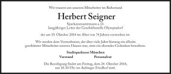Zur Gedenkseite von Herbert Seigner