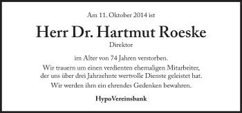 Zur Gedenkseite von Hartmut Roeske