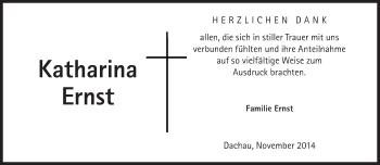 Zur Gedenkseite von Katharina Ernst