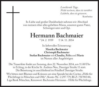 Zur Gedenkseite von Hermann Bachmaier