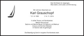 Zur Gedenkseite von Karl Grauschopf