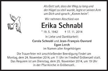 Zur Gedenkseite von Erika Schnabl