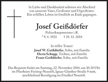 Zur Gedenkseite von Josef Geißdörfer