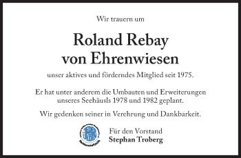 Zur Gedenkseite von Roland Rebay von Ehrenwiesen