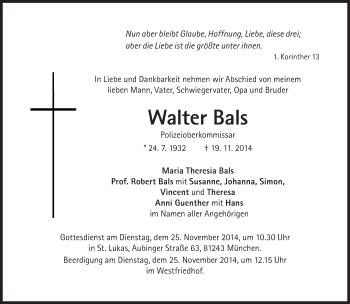 Zur Gedenkseite von Walter Bals