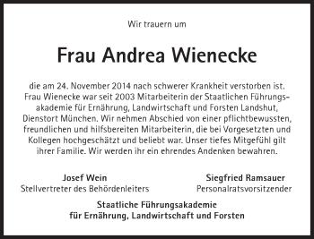 Zur Gedenkseite von Andrea Wienecke