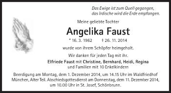 Zur Gedenkseite von Angelika Faust