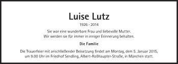 Zur Gedenkseite von Luise Lutz