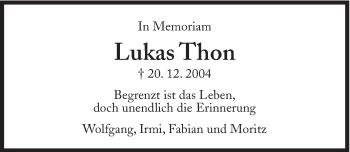 Zur Gedenkseite von Lukas Thon