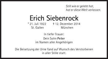 Zur Gedenkseite von Erich Siebenrock