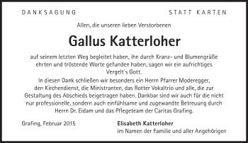 Zur Gedenkseite von Gallus Katterloher