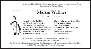 Zur Gedenkseite von Martin Wallner