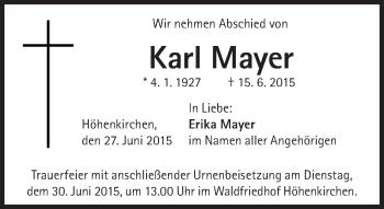Zur Gedenkseite von Karl Mayer