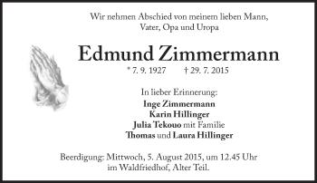 Zur Gedenkseite von Edmund Zimmermann