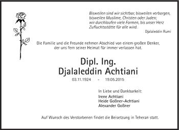 Zur Gedenkseite von Djalaleddin Achtiani