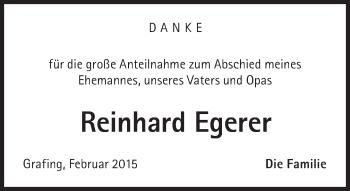 Zur Gedenkseite von Reinhard Egerer