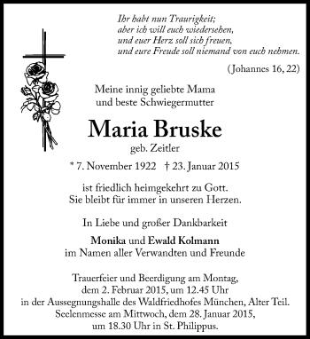 Zur Gedenkseite von Maria Bruske