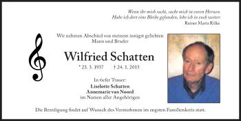 Zur Gedenkseite von Wilfried Schatten